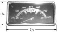 "3-5/8"" X 1-3/4"" Heat Indicator"