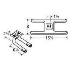 "15-7/8"" X 8"" Dual Stainless Steel ""H"" Burner/Curved Venturis"