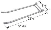 """22-1/4"""" X 8-1/4"""" stainless steel 2-tube burner"""