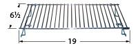 """19"""" X 6-1/2"""" chrome steel wire warming rack"""