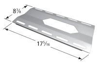 "17-5/16"" x 8-1/4"" Stainless Steel Heat Plate"