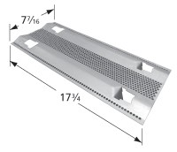 "17-3/4"" X 7-7/16"" Stainless Steel Heat Plate"