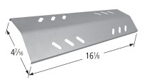 "16-1/8"" X 4-7/16"" Stainless Steel Heat Plate"