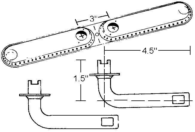 """17"""" X 2-1/4"""" Burner w/ 4-1/2""""X1-1/2"""" Dual Venturis"""