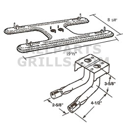 """Broilmaster SS """"H"""" Burner W/ Tubes for S3, U3, D3"""