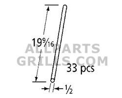 """19-9/16"""" X 1/4"""" Tuscany SS wire rod set - 33 pcs."""