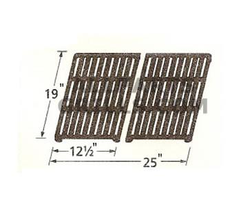 """19"""" x 25"""" (2 pc) Matte Cast Iron Cook Grid"""