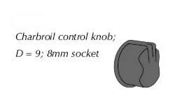 04470 Char-Broil control knob
