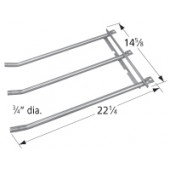 "22-1/4"" X 14-5/8"" stainless steel 3-tube burner"