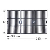 "17"" X 28-7/8"" 3-pc matte finish porcelain cast iron cooking grid set 61183"