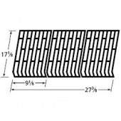 "17-1/8"" X 27-3/8"" Matte cast iron cooking grid"