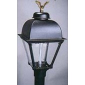 Black Cast Alum. Lamp (HJ3A)-Order Post Seperately