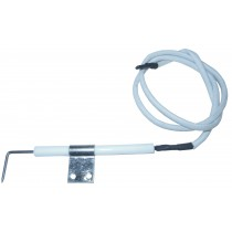 Electrode with wire and mounting bracket