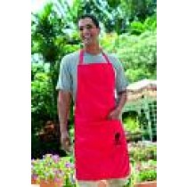 Apron Red with Blace Kettle Embroidery