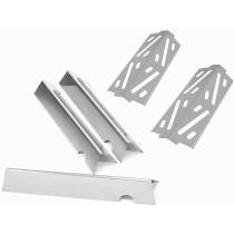 "17-1/8"" X 3"" Stainless Steel Heat Angle Bars Set of 3 & Heat Deflectors 66031, 66794, 66684"