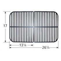 "17"" X 26-1/4"" Porcelain Coated Cast Iron Cooking Grid Set"