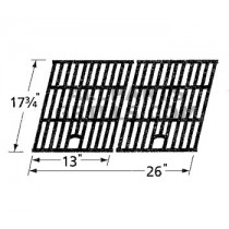 "17-3/4"" X 26"" porcelain cast iron cook grid."