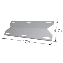"17-1/4"" X 6-15/16"" Stainless Steel Heat Plate"