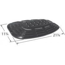 """21-3/4"""" X 11-3/4"""" Stainless Steel  Oval Heat Plate"""