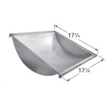 "17-1/4"" x 17-1/4"" Stainless Steel Trough"