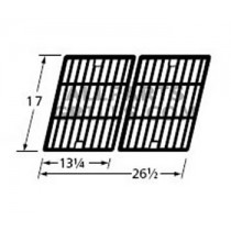 "17 x 26-1/2"" Matte Cast Iron Cooking Grids-2pc"