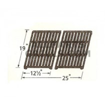 "19"" x 25"" (2 pc) Matte Cast Iron Cook Grid"