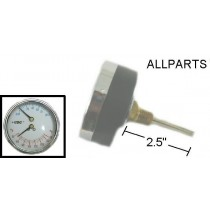 "Pressure/Temperature Gauge with 2.5"" Extention."