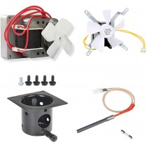 Auger Motor,Grill Induction Fan Kit, Fire Burn Pot and Hot Rod Ignitor,Replacement Parts with Screws and Fuse for Pit Boss and Traeger Wood Pellet Grill, Ignitor Kit.