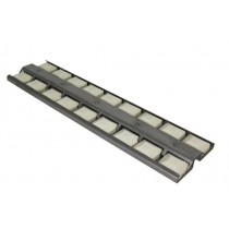"21-1/2"" X 5-1/2"" Stainless Steel Briquette Tray with Briquettes"